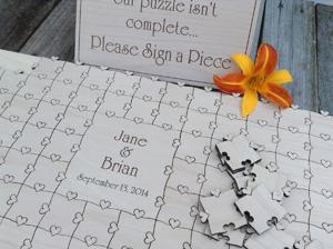 Beautiful Puzzle Piece Wedding Guest Book Ideas - Styles & Ideas ...