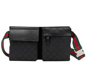 63a75dc77f4e03 Gucci Original GG Canvas Belt Bag, Black - SHEfinds