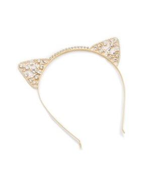 edfeab02c LELET NY Kat Swarovski Crystal Headband ($370). GEM CAT EAR ...