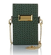 Snob Essentials Croco-Embossed Jewel Box Handbag