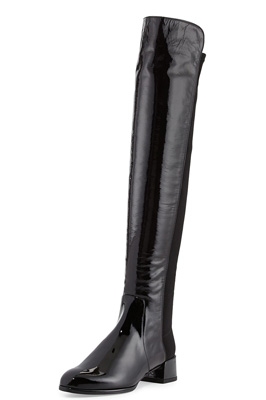 26906679e82 Stuart Weitzman Fifo Patent Stretch Over-the-Knee Boot ( 635)