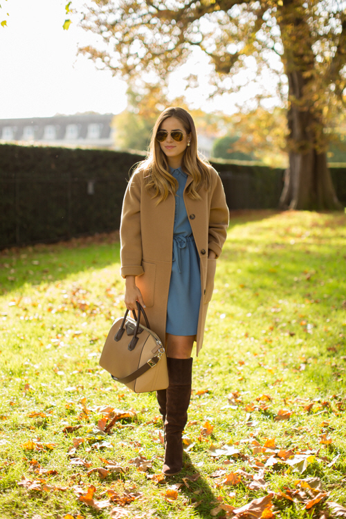 tall brown boots with a dress 4