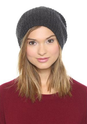 1717 Olive Cashmere Rib Slouch Beanie ( 120) d6a30b7c08f