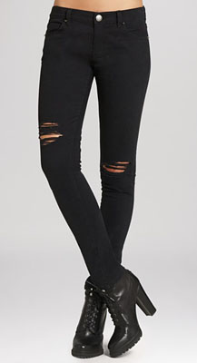 8880bc9f587 BCBGeneration Jeans - The Stacked Skinny in Black Distressed ($73.50, down  from $98)