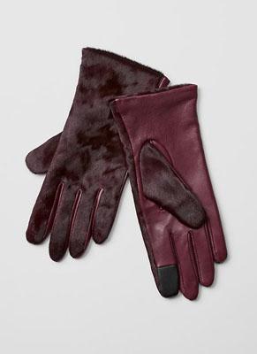Calf hair tech gloves