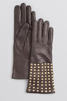 DIANE von FURSTENBERG Studded Leather Tech Gloves
