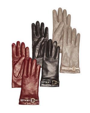 DIANE von FURSTENBERG Sutra Leather Tech Gloves