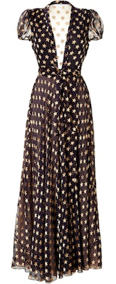 DVF Star Print Dress
