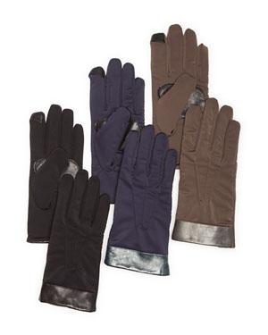Echo Superfit Leather Cuff Tech Gloves