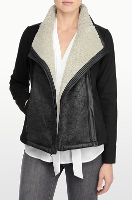 Faux Sherling and Faux Leather Jacket 1