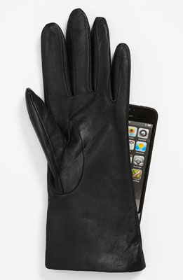 Fownes Brothers 'Basic Tech' Cashmere Lined Leather Gloves