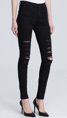 58aeb110a838 J Brand Jeans – Maria High Rise Destructed in Blackheart - SHEfinds