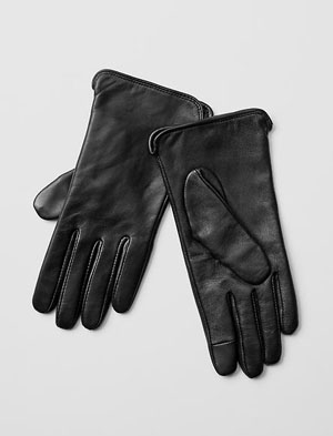 Leather tech gloves