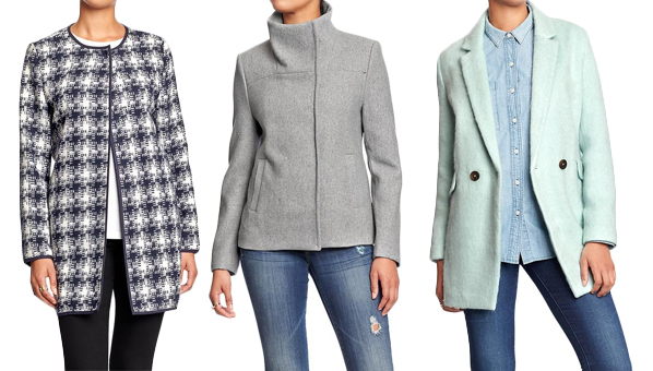 Outerwear sale at old navy