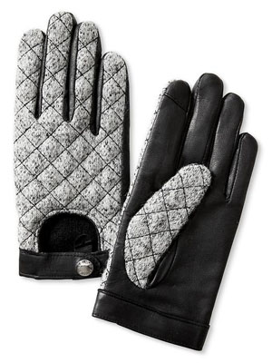 Quilted Tweed Texting Glove