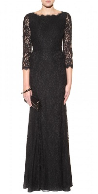 dvf lace floor length gown