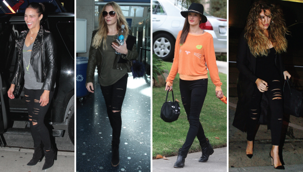 44d2cf0a6ade5 Shop The Cult Black Ripped Skinny Jeans Khloe
