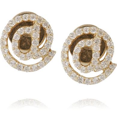 Khai Khai @ 18-karat gold diamond earrings
