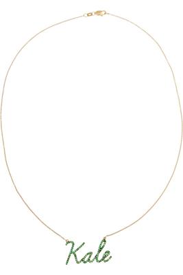 Khai Khai Kale 18-karat gold tsavorite necklace