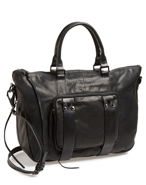 She + Lo 'Next Chapter' Perforated Leather Satchel