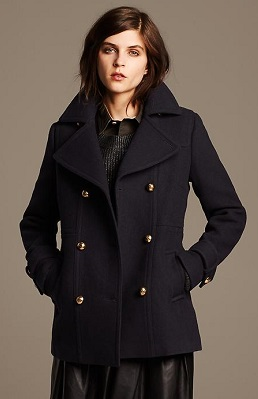 banana republic navy peacoat
