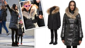 Padma Lakshmi And Her Daughter Are So Fancy In Mommy And Me Mackage Coats
