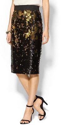 milly sequin skirt