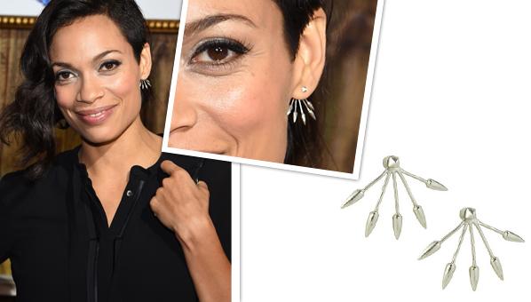 Want New Mom Rosario Dawson S Spike Pamela Love Earrings