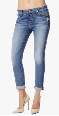 7 for all mankind jeans Josefina Feminine Boyfriend in Absolute Heritage 3