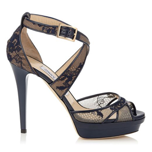 Kuki Navy Lace Platform Sandals 513 Down From 1 025