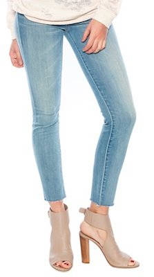 MOTHER Ankle Fray Skinny Jeans