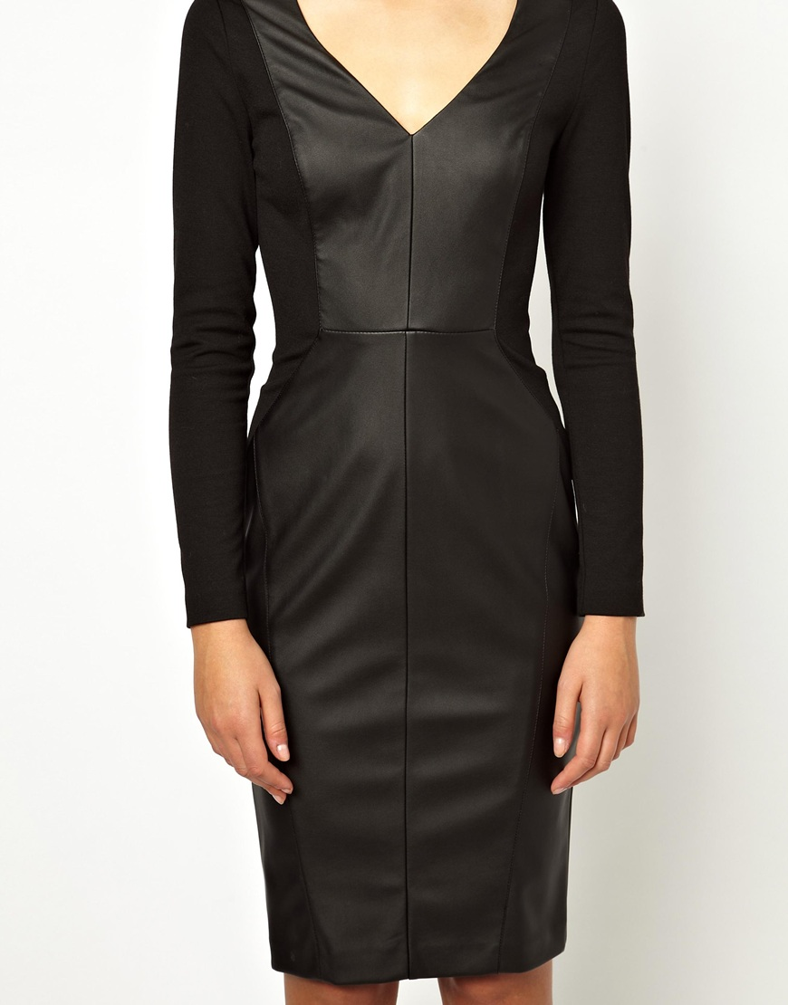 Diane Von Furstenberg Leather Sheath Dress - ASOS Oasis Long Sleve ...