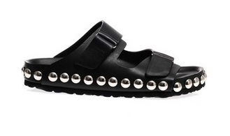 Giambattista Valli Studded Leather Pool Slides