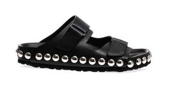Giambattista Valli Studded Leather Pool Slides