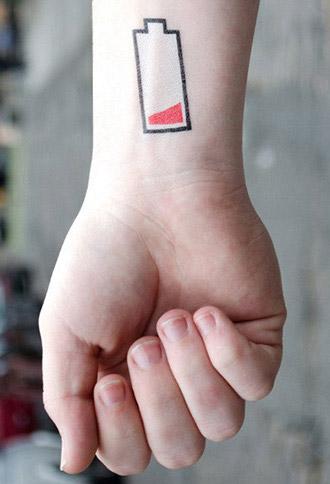 Tattly Battery Temporary Tattoos