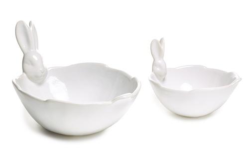 Bunny serving bowls