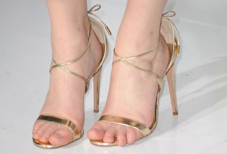 white Naked pedicure feet