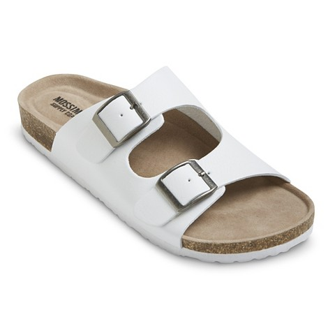 Womens Bailey Two Buckle Footbed Sandals