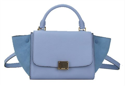 Zara Combined City Bag With Buckle | Celine Trapeze Bag Light Blue