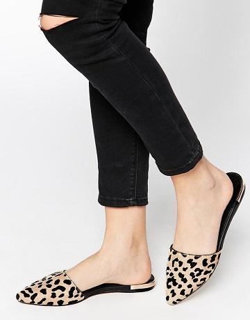 008a0b8211e6 ALDO Luma Leopard Pointed Flat Mule Shoes - SHEfinds