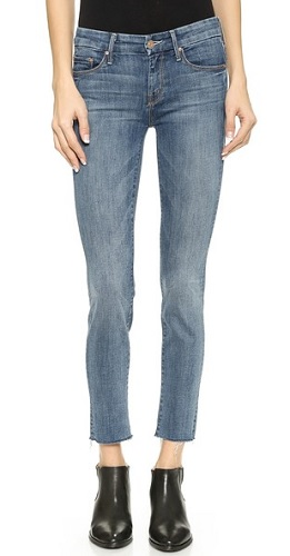 mother fray skinny jeans