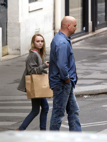 Lily-Rose Depp (daughter of Johnny Depp and Vanessa Paradis) as a kid