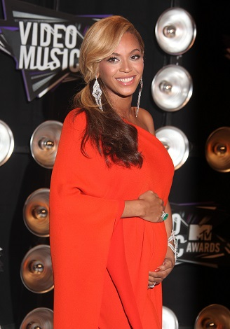 Beyonce Knowles on the red carpet of the MTV VMAs in Los Angeles