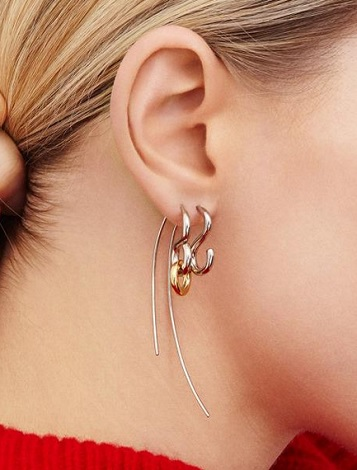 gold p earrings mono women to right earring ear punk chesnais charlotte womensave shop save up