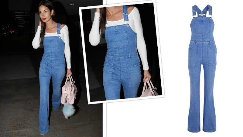 b5da719ae14 Lily Aldridge Seriously Slayed The Game In These Stella McCartney Overalls