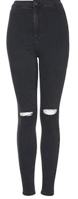 Selena Gomez Black Jeans | Topshop Joni Ripped Skinny Jeans