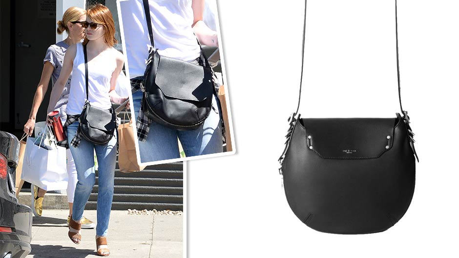 A Hands Free Existence Is Hy Just Ask Emma Stone The Ginger Starlet Ran Errands With Her Rag Bone Bradbury Small Flap Hobo 695