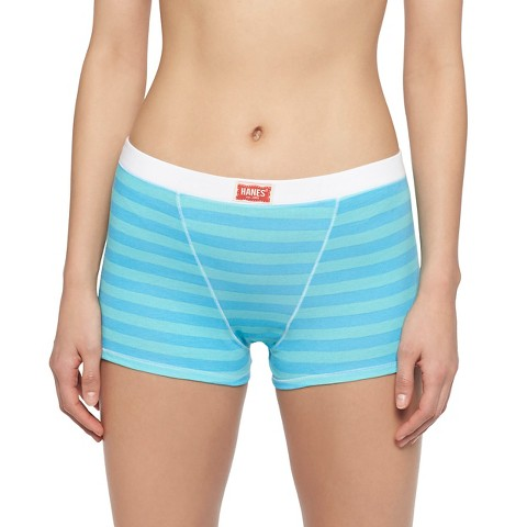 Hanes Girls' Underwear. Designed with comfort and fit in mind, our girls' underwear is made with soft cotton, no ride up leg bands and itch-free, tag-free labels. Available in a variety of colors, prints and styles, including hipsters, briefs, bikinis and boy shorts, our undies are the perfect fit for girls of all ages.