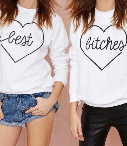 Kkarmalove Best Bitches Sweatshirt Set