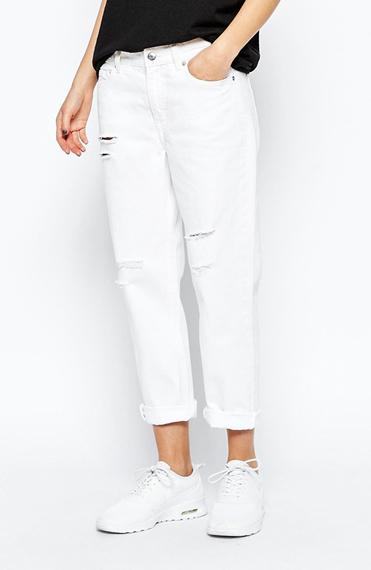 White Boyfriend Jeans   Shop White Boyfriend Jeans   Best White ...